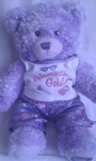 Adorable Big Bedtime 'Glamour Girl' Sparkly Build-a-Bear Plush in PJ's